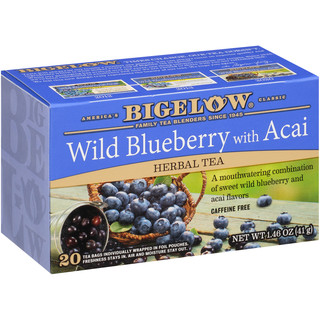 Wild Blueberry with Acai Herbal Tea - Case of 6 boxes- total of 120 teabags