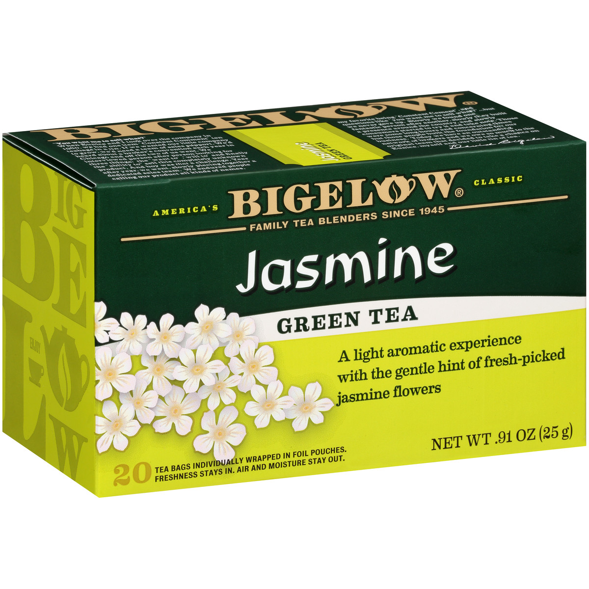 Jasmine Green Tea Case Of 6 Boxes Total Of 120 Teabags