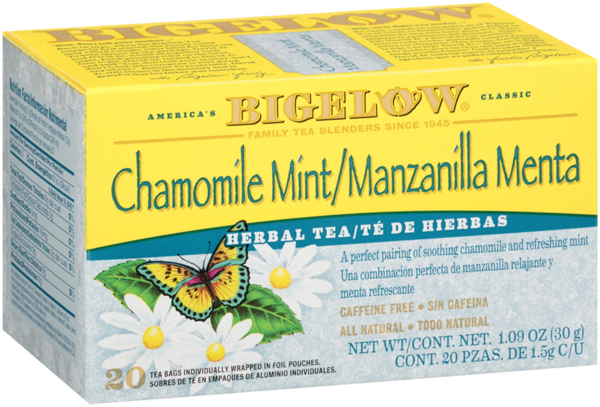 Te de Manzanilla Menta de Hierbas - Case of 6 boxes- total of 120 teabags