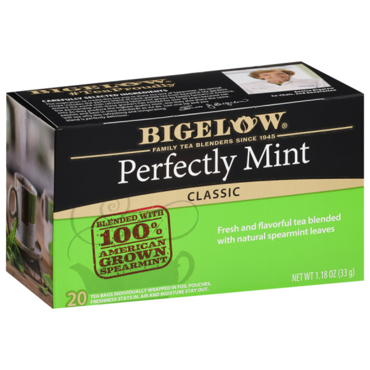 Perfectly Mint Tea (Formerly Plantation Mint) Case of 6 boxes - total of 120 teabags