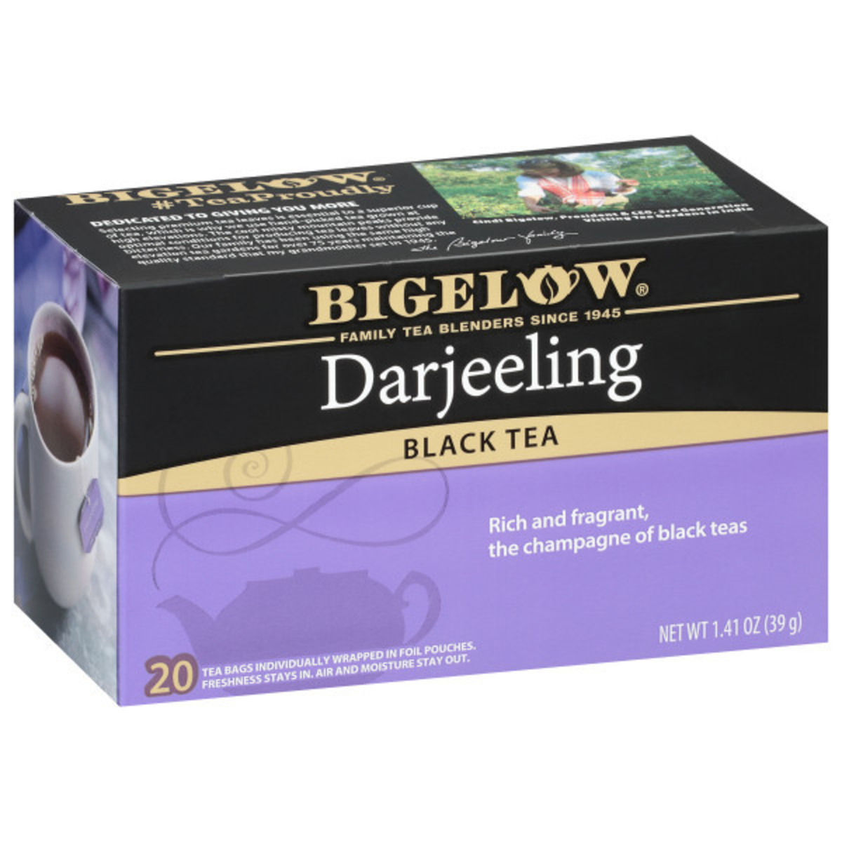 Darjeeling Tea - Case of 6 boxes- total of 120 teabags