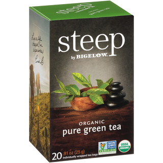 pure green tea - case of 6 boxes - total of 120 teabags