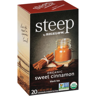 sweet cinnamon black tea - case of 6 boxes- total of 120 teabags