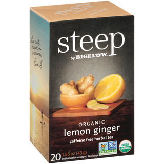 lemon ginger herbal tea - case of 6 boxes - total of 120 teabags