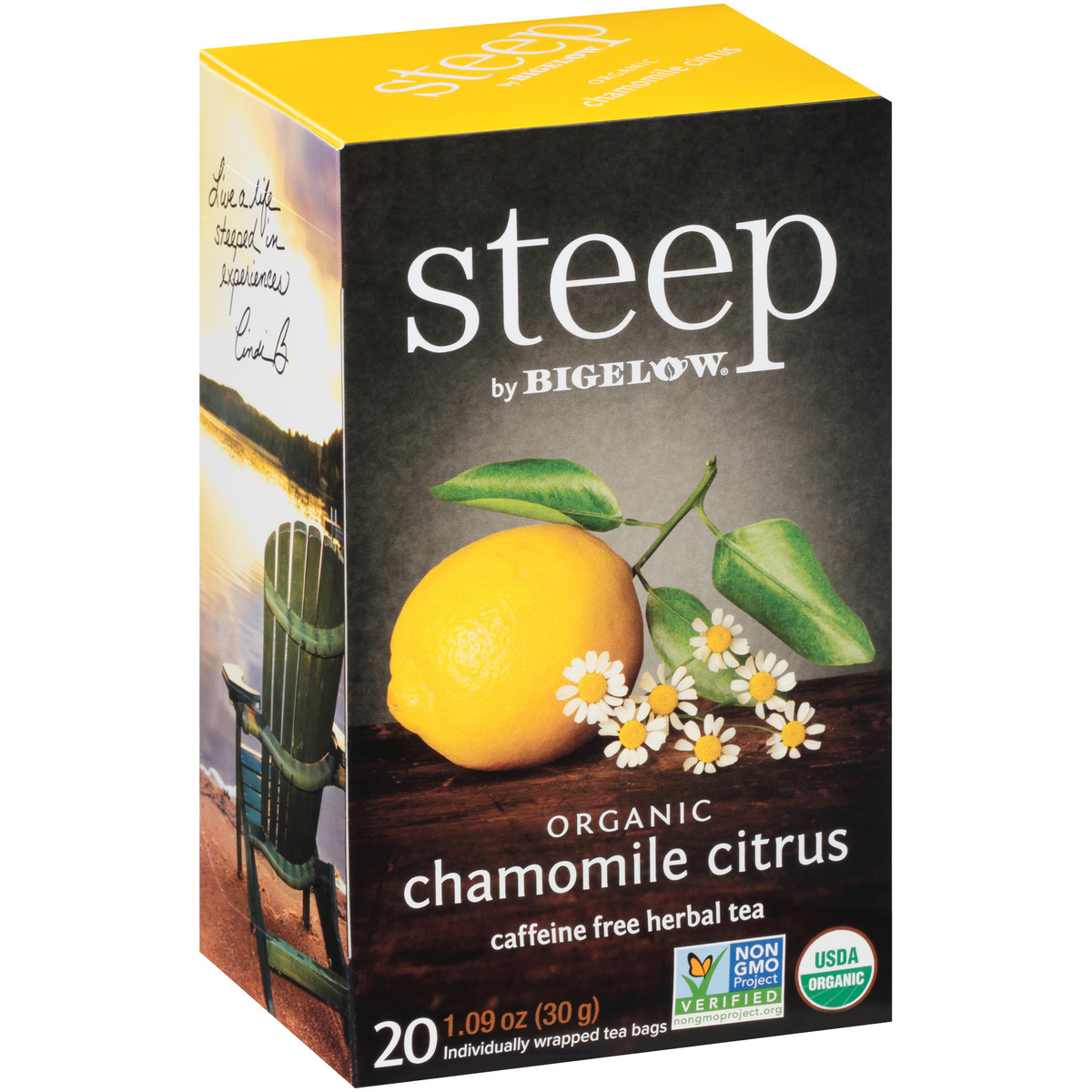 chamomile citrus herbal tea - case of 6 boxes - total of 120 teabags