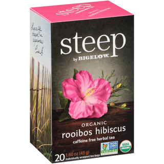 rooibos hibiscus herbal tea - case of 6 boxes- total of 120 teabags