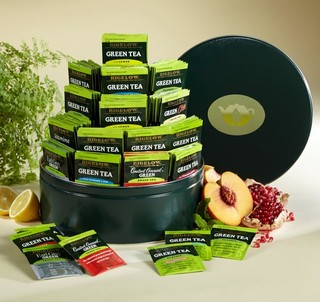 Assorted Bigelow Green Tea Tin - total of 120 teabags