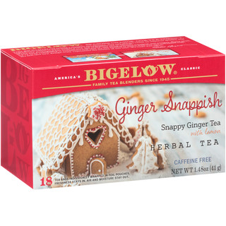 Ginger Snappish Herbal Tea - Case of 6 boxes - total of 108 teabags