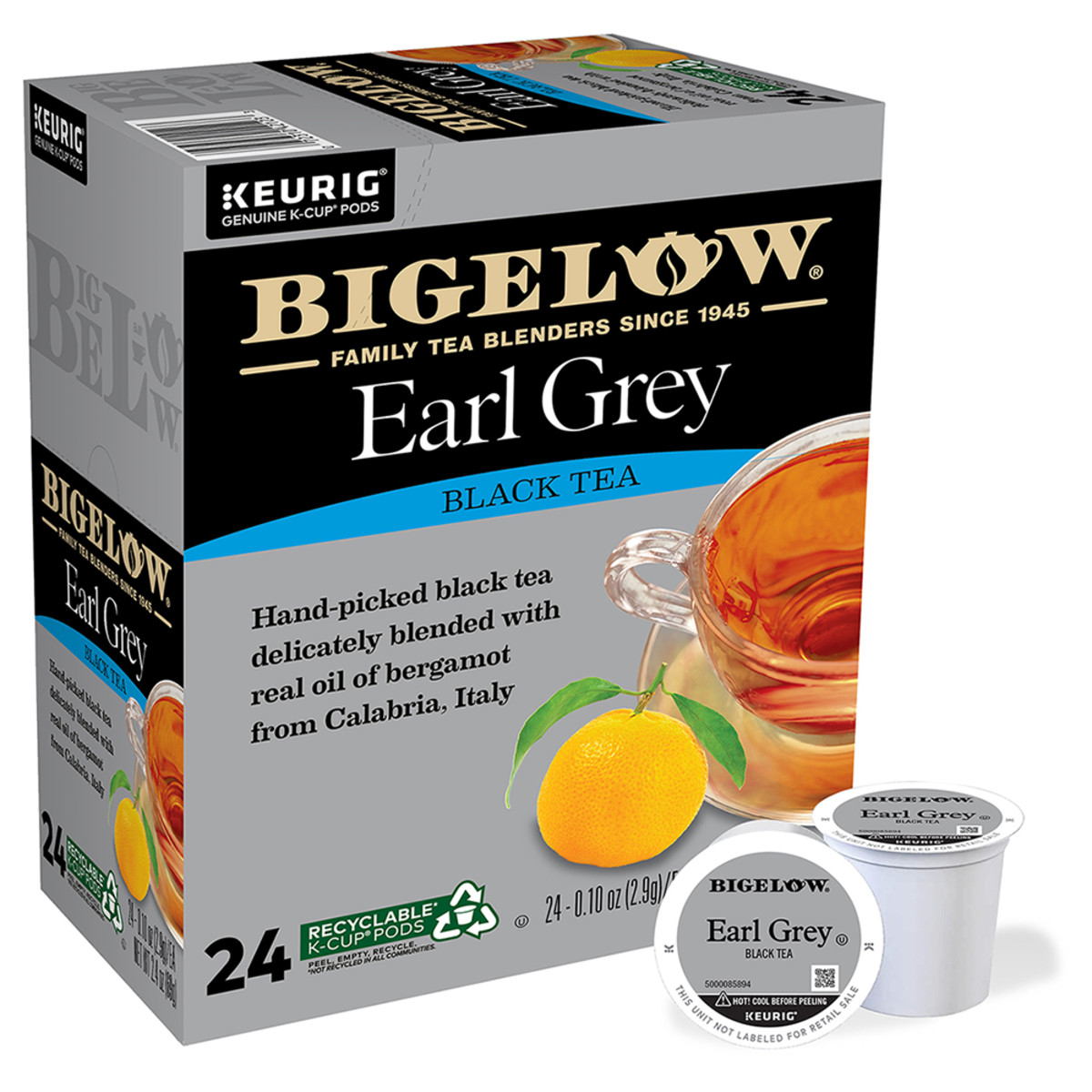 Earl Grey K-Cup® pods - Case of 4 boxes - total of 96 K-Cup® pods