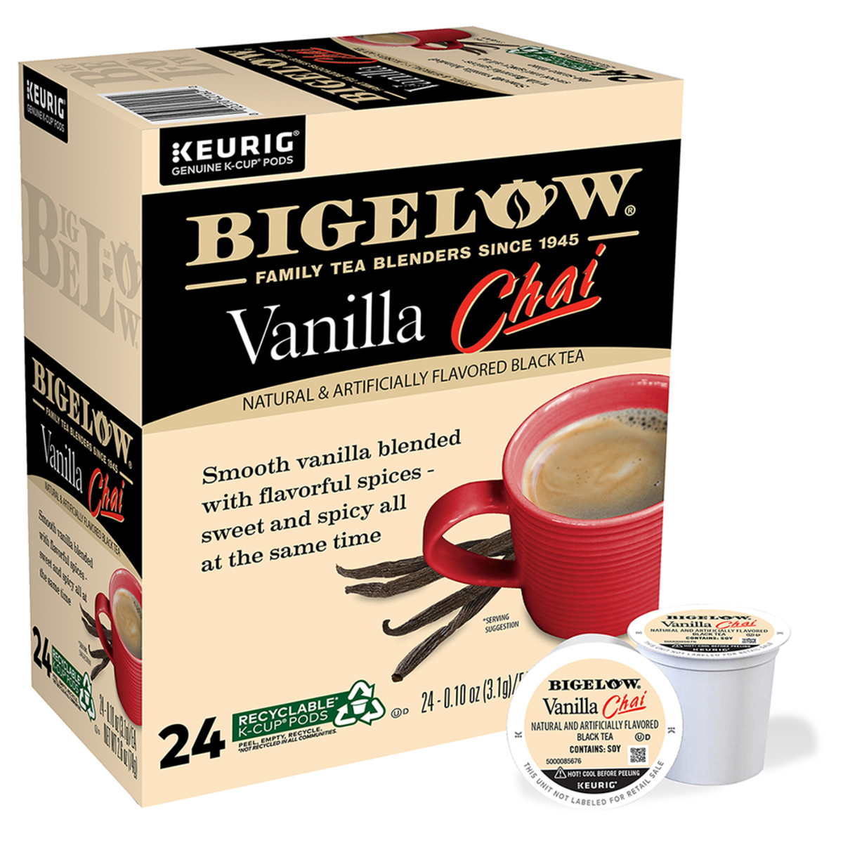 Vanilla Chai K-Cup® pods - Case of 4 boxes - total of 96 K-Cup® pods