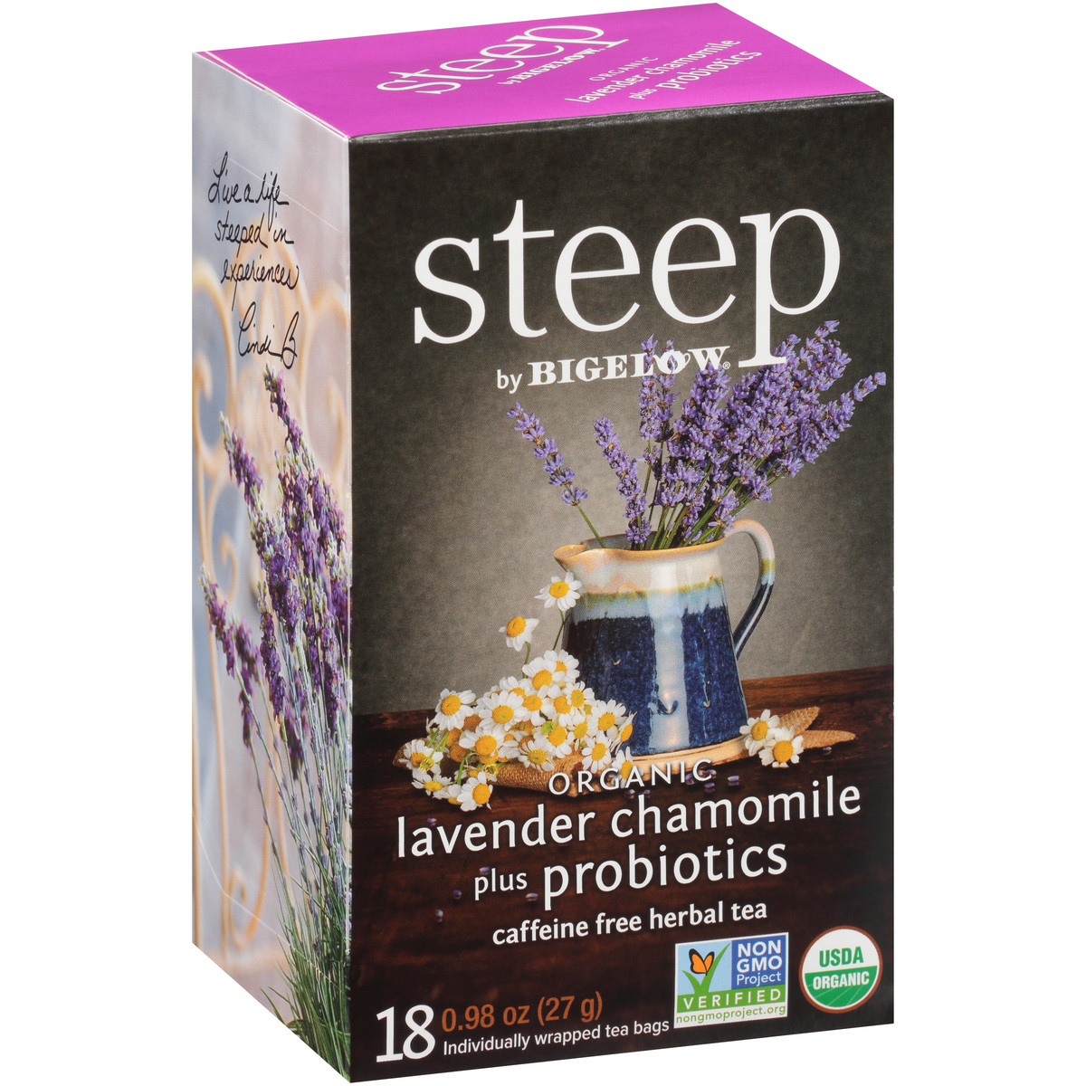 lavender chamomile with probiotics herbal tea - case of 6 boxes - total of 108 tea bags