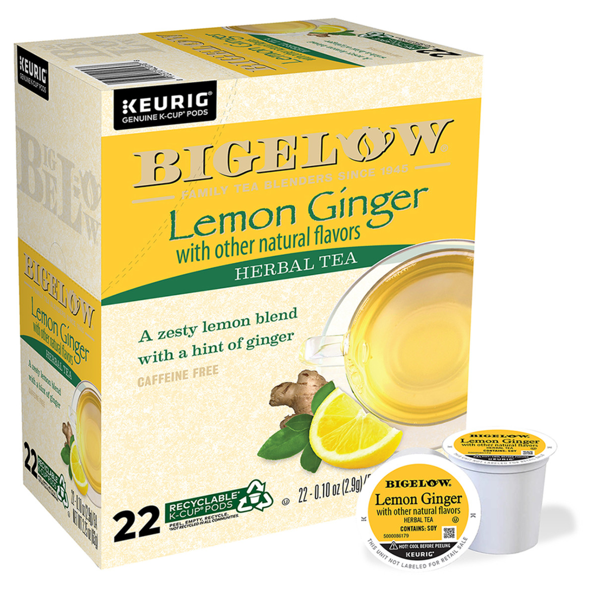 Lemon Ginger K-Cup® pods - Case of 4 boxes - total of 88 K-Cup® pods