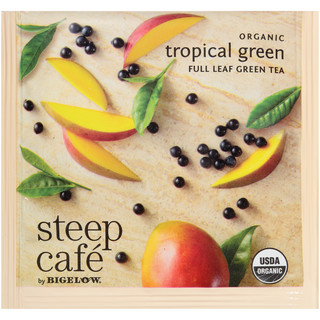 steep Café Organic Tropical Green Tea - Box of 50 pyramid tea bags