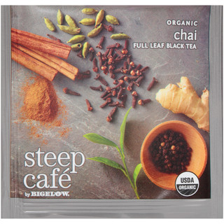 steep Café Organic Chai Black Tea - Box of 50 pyramid tea bags