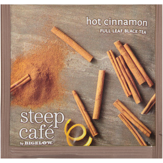 steep Café Hot Cinnamon Black Tea - Box of 50 pyramid tea bags