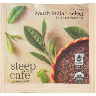 steep Café Organic South Indian Select Tea - Box of 50 pyramid tea bags