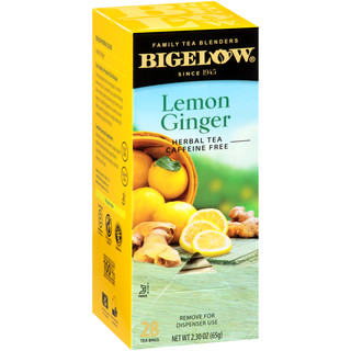 Lemon Ginger Herbal Tea - Case of 6 boxes - total of 168 tea bags