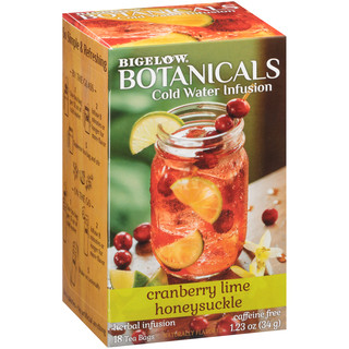 Cranberry Lime Honeysuckle Cold Water Infusion Caffeine Free Herbal Tea 108 TB (case of 6 boxes)