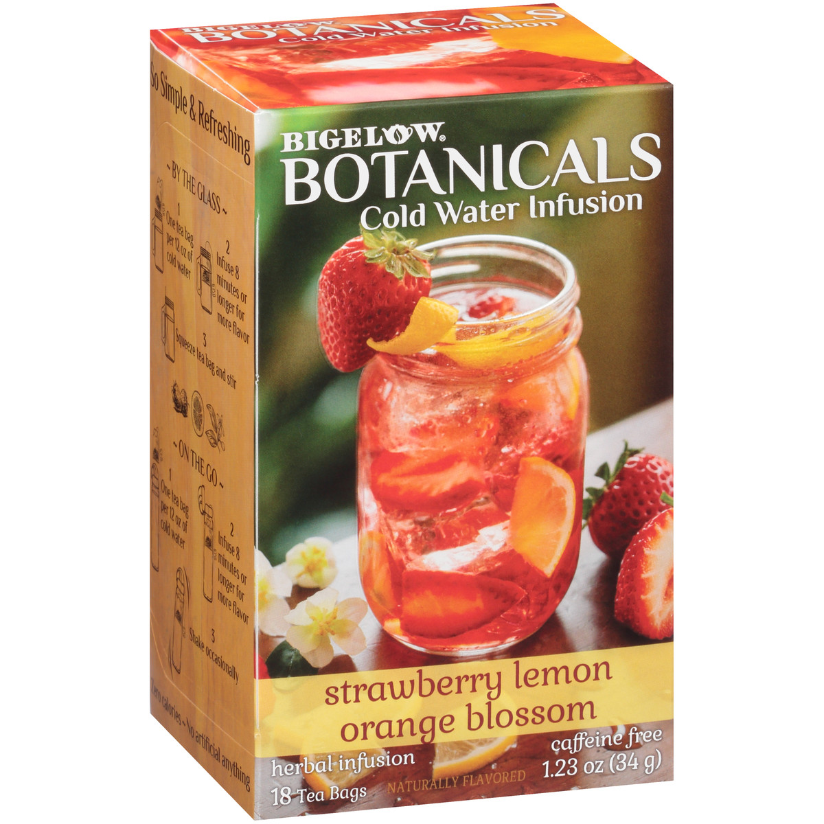 Strawberry Lemon Orange Blossom Cold Water Infusion Caffeine Free 108 TB (case of 6 boxes)
