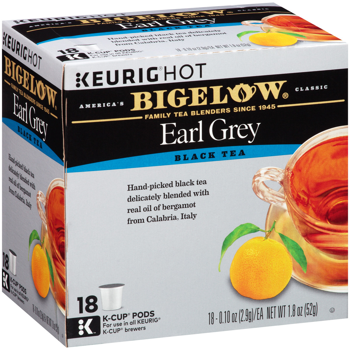 Earl Grey K-Cups - Case of 4 boxes - total of 72 kcups