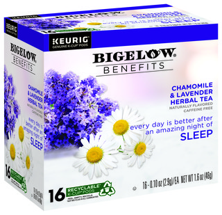Benefits Chamomile and Lavender Herbal Tea K-Cup® pods - Case of 4 boxes- total of 64 k-cups